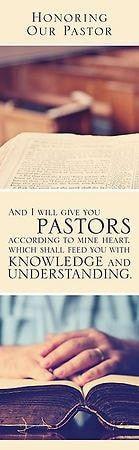 Honoring Our Pastor (Jeremiah 3:15, KJV) Bookmarks, 25