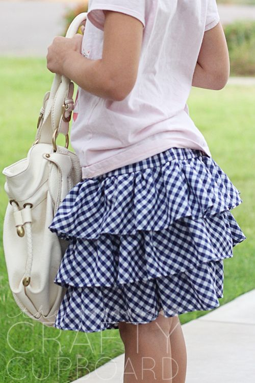 Skirting The Issue: Triple Tiered Ruffle Skirt Tutorial
