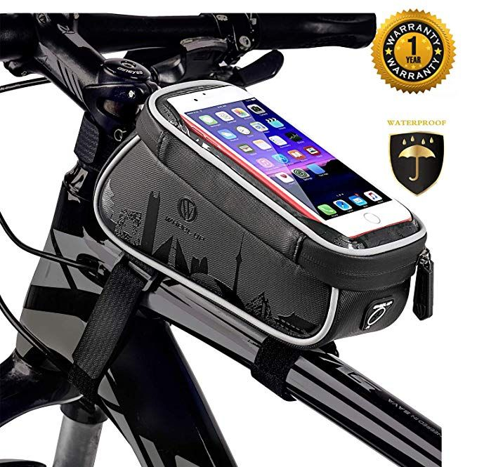 TURATA Bike Bags Bicycle Front Frame Bag Waterproof Handlebar Cycling Top Tube