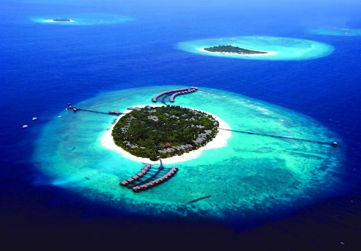 Magical views as you approach The Beach House at Iruveli Maldives on the VIP plane