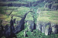 Formaciones rocosas en los tepuyes de la serranía de Chiribiquete.Fotógrafo: Andrés Hurtado García