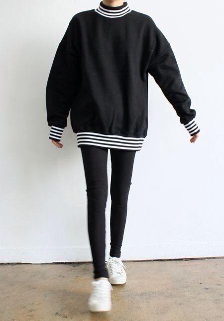 Outfits casuales que se ven increíbles con jeans y leggings negros