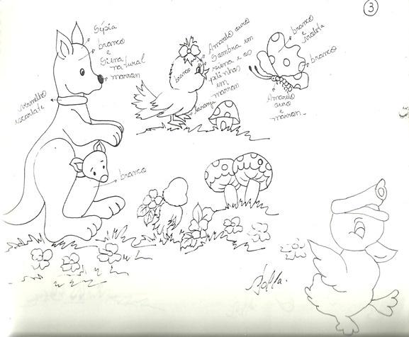 Desenhos infantis para pintar em fraldas: Ems Fralda