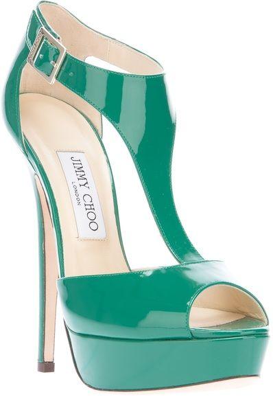 Jimmy Choo Tease Sandal in Green | Lyst