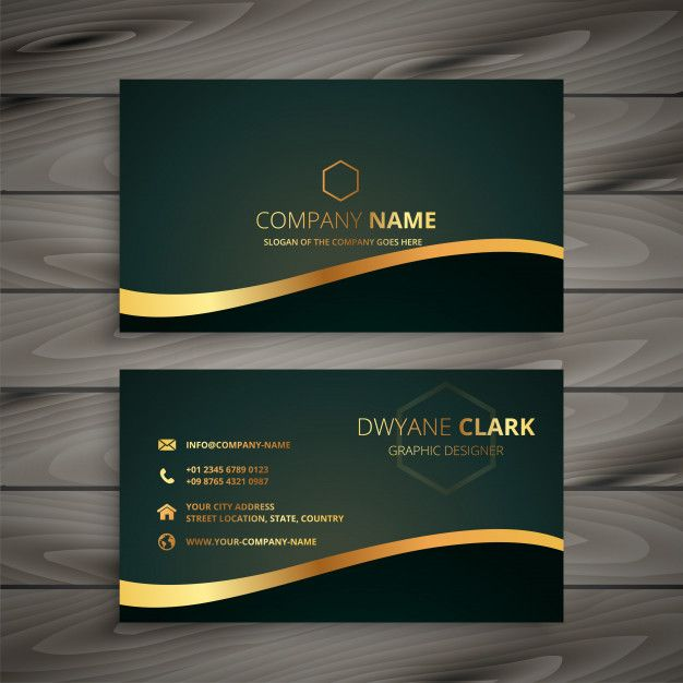 Download Golden Company Business Card For Free Company Business Cards Business Card Logo Design Graphic Design Business Card
