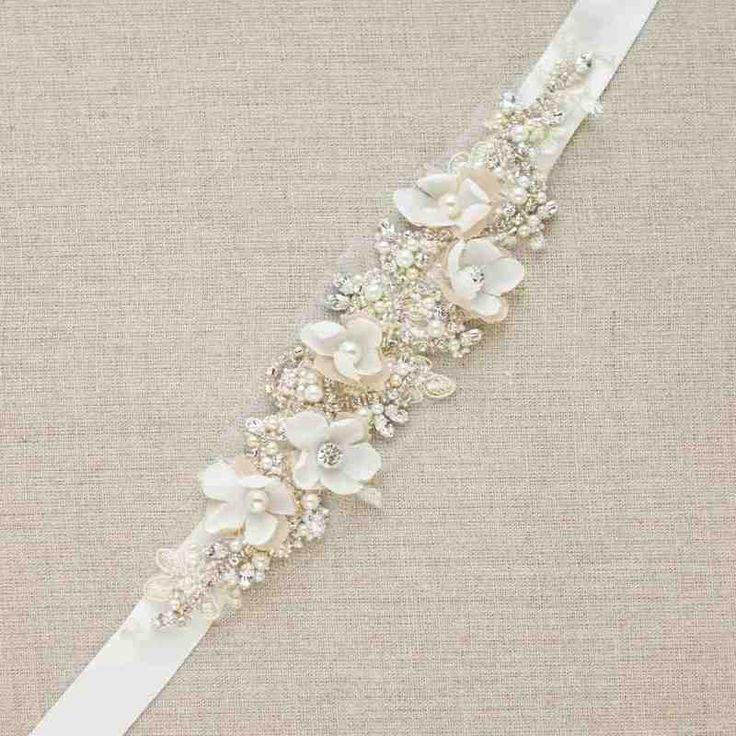Flower Sash For Wedding Dress