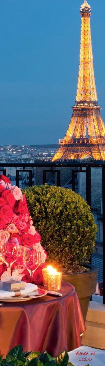 Eiffel view from the Four Seasons Hotel ~ George V, Paris, France