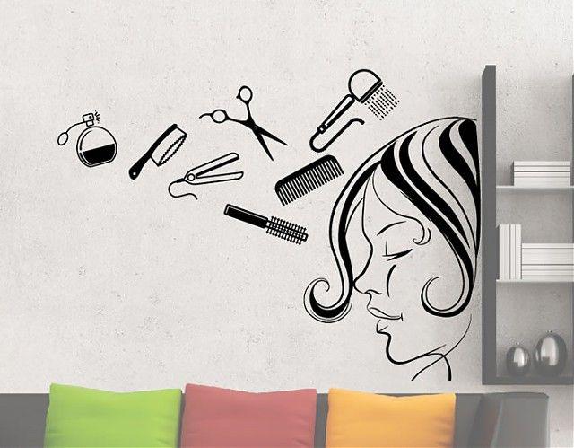 Decoraci n de peluquer as con vinilos adhesivos 04394 - Decoracion de peluqueria ...