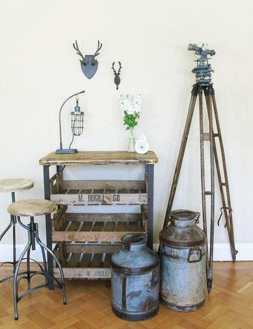 Vintage Surveyor's Tripod & Theodolite | Unique | Trend | Industrial | thedenandnow.co.uk | Warehouse Home Design Magazine