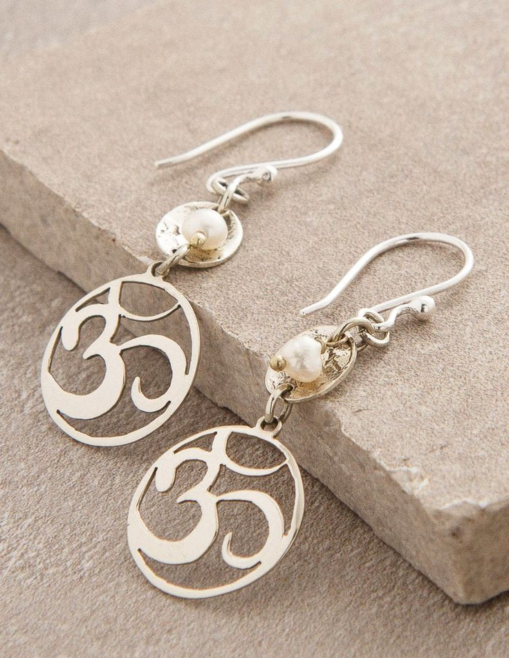 Om Glow Earrings - silver #SivanaWishes