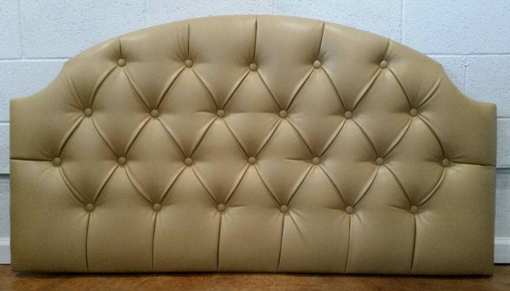 queen size faux leather tan tufted upholstered headboard custom wall mounted the tufted frog. Black Bedroom Furniture Sets. Home Design Ideas