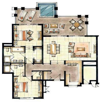World 39 s nicest resort floor plans floorplans for anahita for The world deck plans