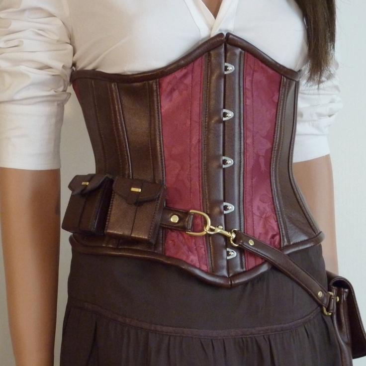Steampunk utility corset
