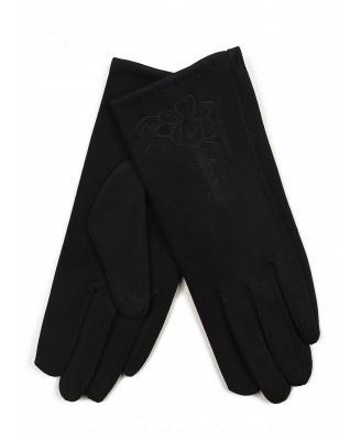 Urocze, eleganckie rękawiczki zdobione haftowanym kwiatuszkiem. Ochronią Twoje dłonie w zimne dni.