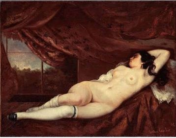 Gustave Courbet, Nude Reclining Woman, 1862, Oil on canvas, 75 x 97 cm, Private collection