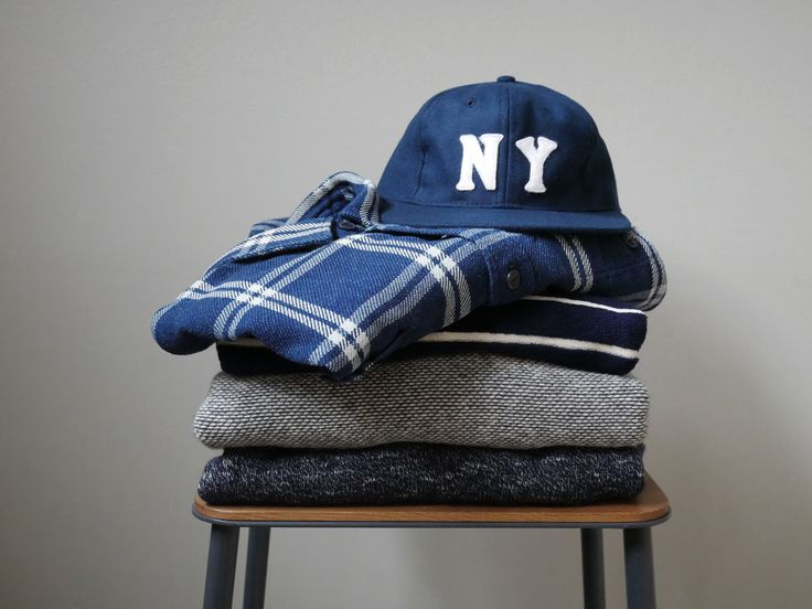 Autumn lookbook: Flannel shirt by Edwin and NY cap by Ebbets Field.