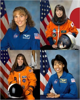 Four Women in Space at the Same Time