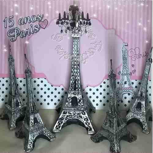 Ceremonia Velas 15 Años Torre Eiffel Paris 15 Unid + Central - $ 499,00