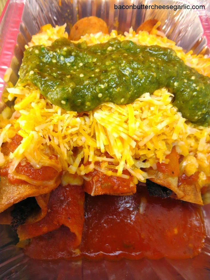 Rolled Tacos...copycat recipe of Chico's Tacos in El Paso. The sauce truly makes this dish!