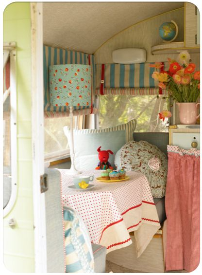 Vintage old camper re do glam glamour camping retro for City chic bedding home goods