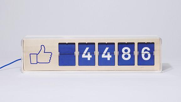 Smiirl, un compteur de fans Facebook en temps réel - designer gerat smiirl facebook fans
