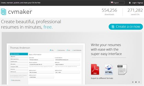 10 Free Online Tools To Create Professional Resumes
