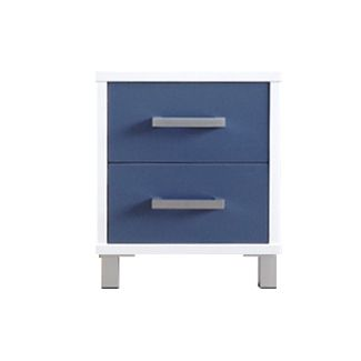 URBAN 2 Drawer (White), Drawers (Provence Blue)