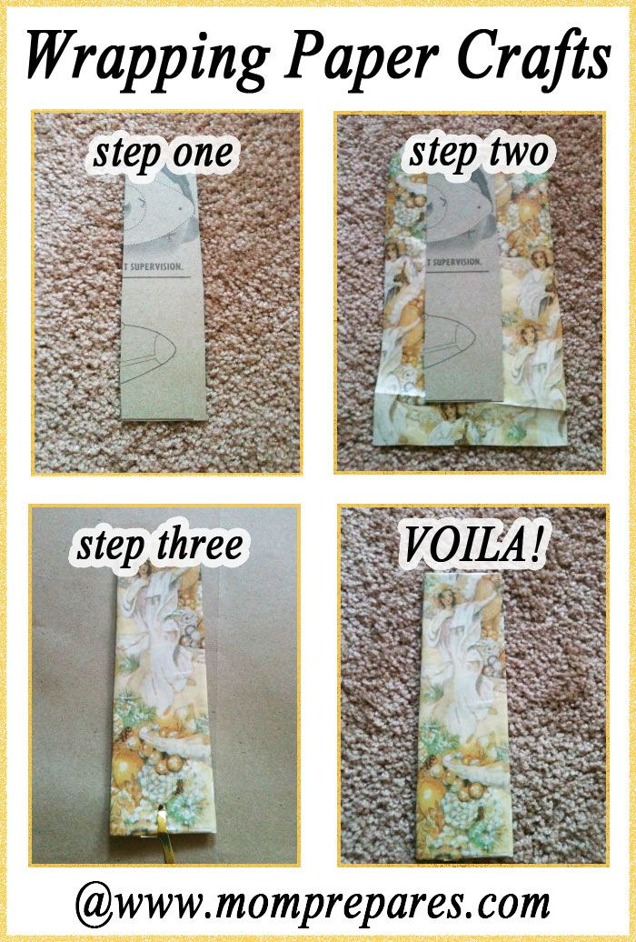 Leftover Wrapping Paper Craft: Bookmark