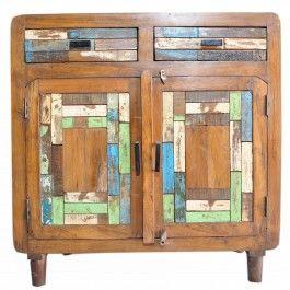 Old Wood Chip Sideboard 90cm