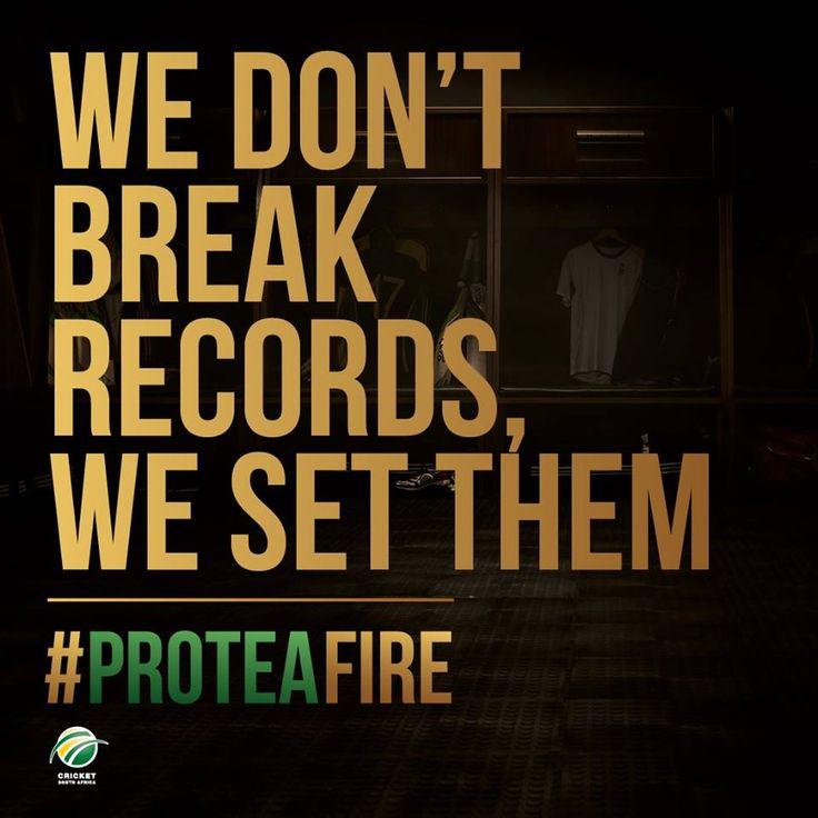 AB de Villiers scored an unbeaten 162 off 66 balls. Fastest 50, fastest 100 & fastest 150. Take a bow. #ProteaFire
