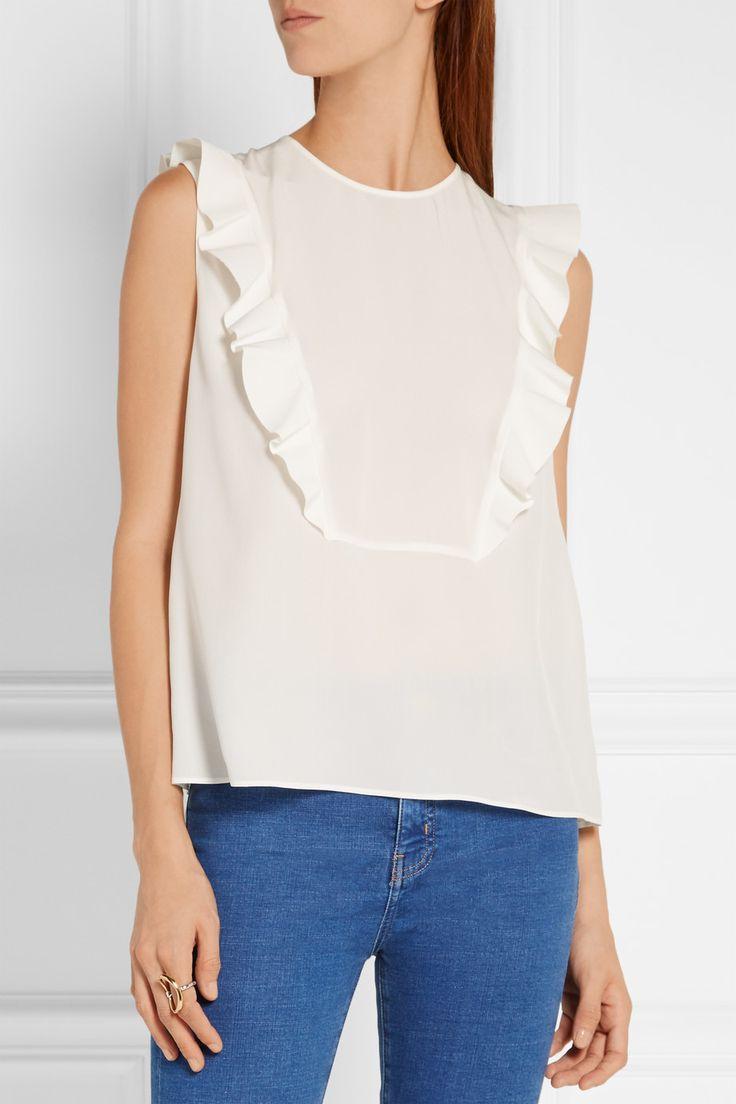 Fendi   Ruffled silk-georgette blouse   NET-A-PORTER.COM