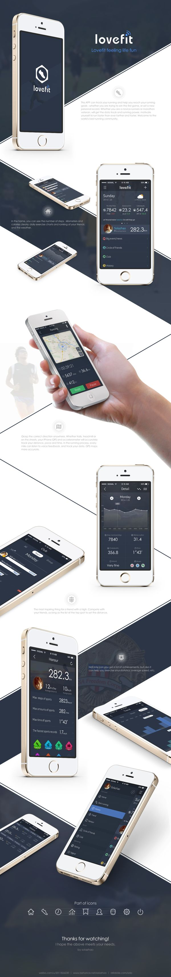 one APP about sports by sola zhao, via Behance