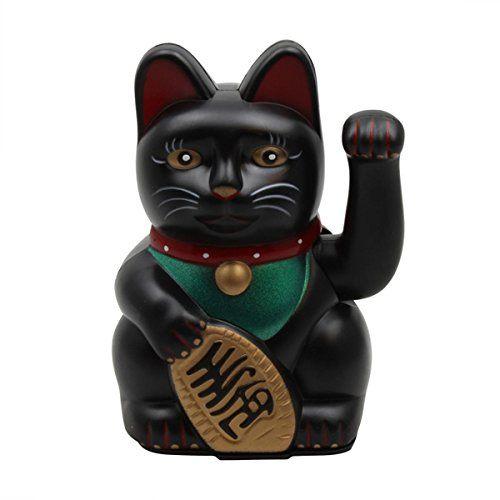 chat chinois porte bonheur noir