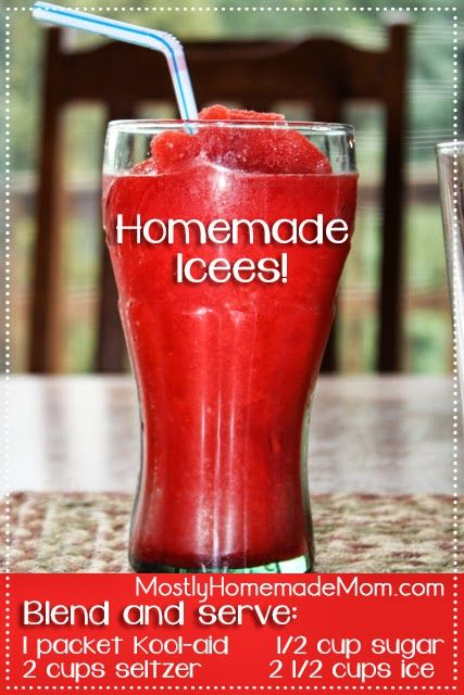 Homemade icees.