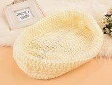 Новорожденный шапка ручной работы дети вязать крючком фотографии реквизит шляпы новорожденных шлем вязания крючком 0 - 12 месяцев 611(China (Mainland))