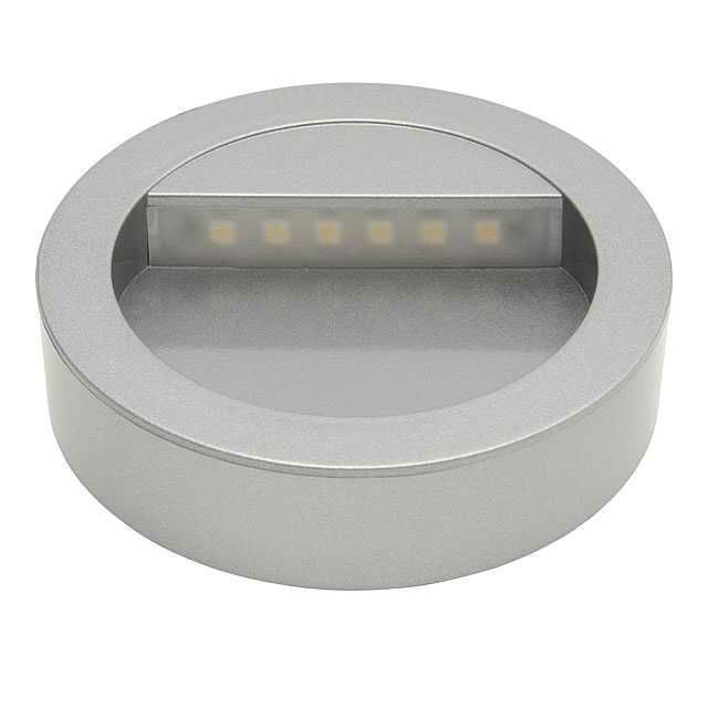0.5W   Side-wall LED Spot Luminaire   12V DC   Silver Color