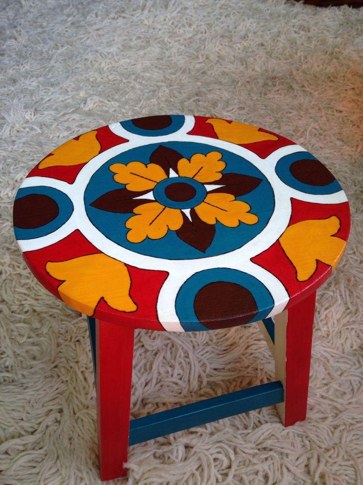 handmade/handepainted-wood chair