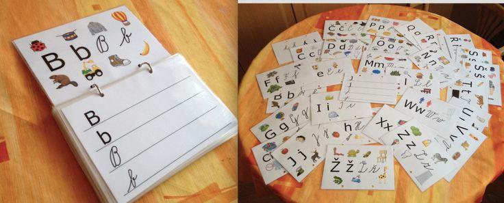 psaní písmen abecedy