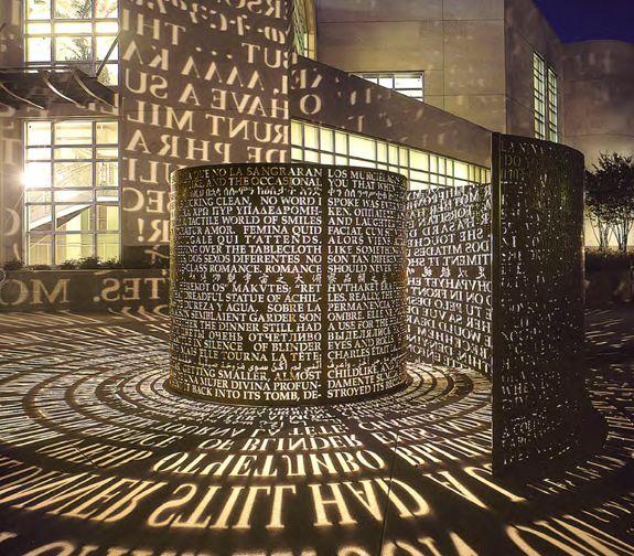 Jim Sanborn, Laser Cut Public Sculpture