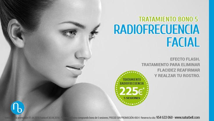 ¡Elimina la flacidez de tu rostro! Aprovecha nuestro Bono de 5 Sesiones de Radiofrecuencia Facial (PROFESIONAL) a un precio inmejorable. Solo hasta el 30 de abril #radiofrecuencia #tratamientos #estetica #belleza #ofertas #sevilla