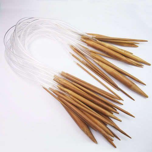 18 piece carbonized bamboo knitting needle sets $25 USD