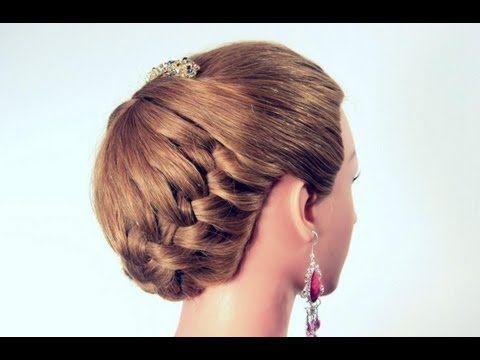 Attractive Прическа с плетением на длинные волосы. Hairstyle For Long Hair   YouTube