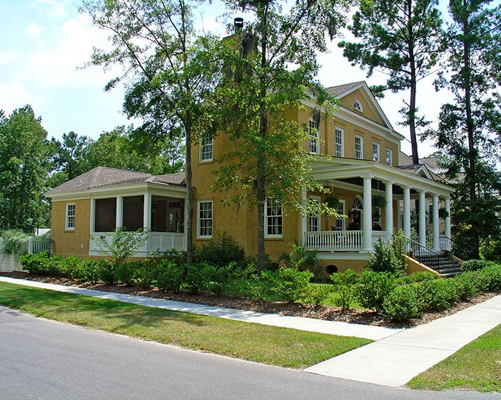 Inspired by the architecture found in historic towns for Habersham house plans