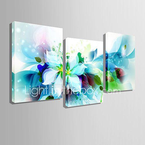 toile set A fleurs/Botanique Classique Réalisme,Trois Panneaux Horizontale Imprimer Art Décoration murale For Décoration d'intérieur de 2017 ? €60.13