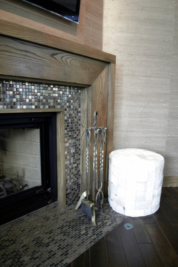 Best 25 Glass Tile Fireplace Ideas On Pinterest White