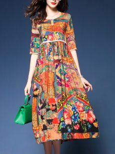 Buy Casual Asymmetric Hem Color Block Maxi Dress online with cheap prices and discover fashion Maxi Dresses at Fashionmia.com.