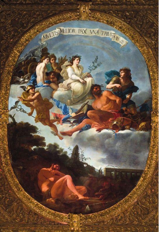 Il trionfo della pace Jan Miel Palazzo Reale Torino