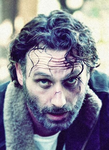 Rick Grimes .. Reminds me of Rocky... It's not about how many times you get beat down. It's about how many times you get up and still fight!
