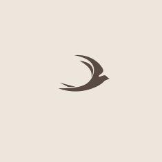 Swallow bird abstract vector logo design template vector art illustration