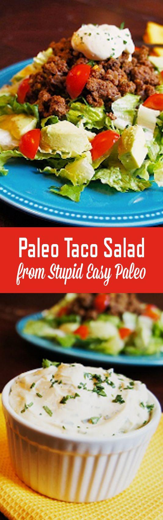Paleo Taco Salad | StupidEasyPaleo.com                                                                                                                                                                                 More